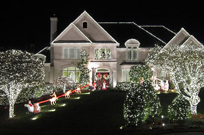 White-LED-Christmas-House